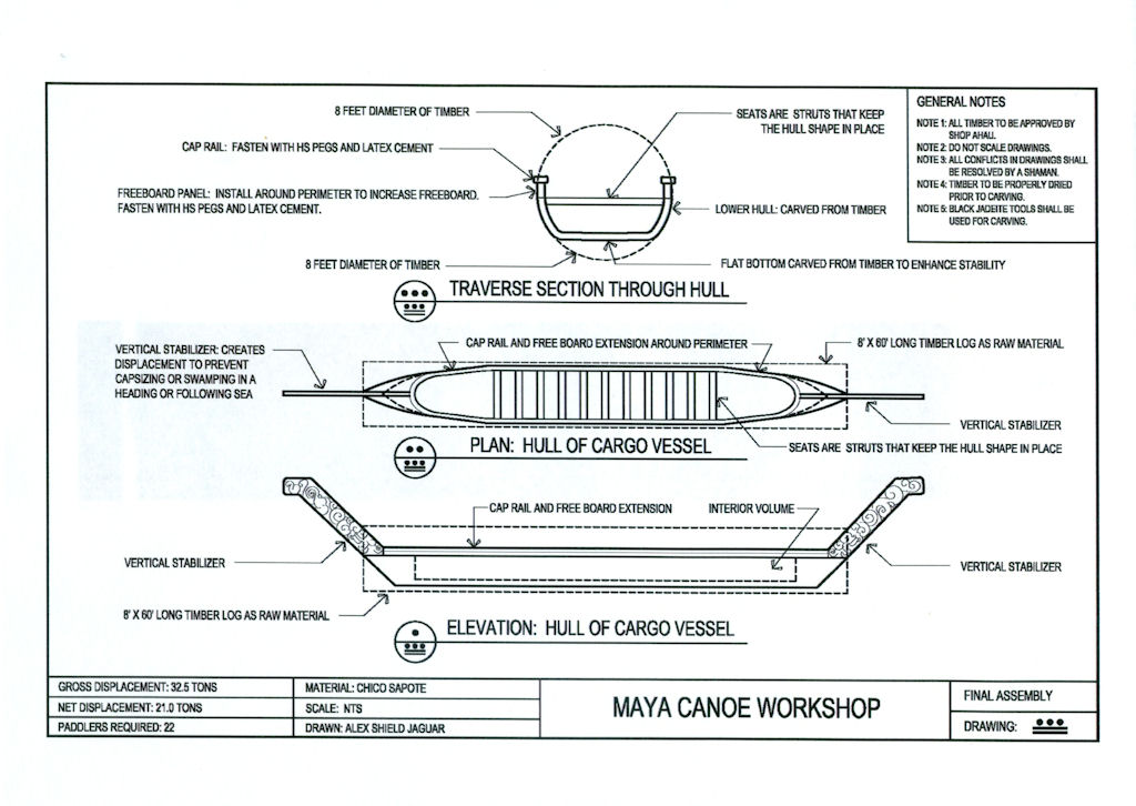 11-8 technical drawing of Maya Vessel